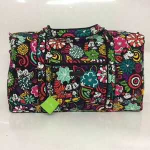 vera bradley large duffel mickey magical blooms
